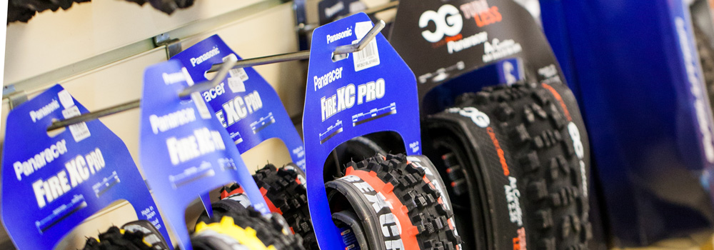 Large choice of road and MTB tyres