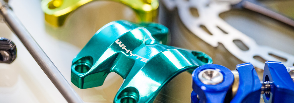 Anodised parts from Hope and Whyte