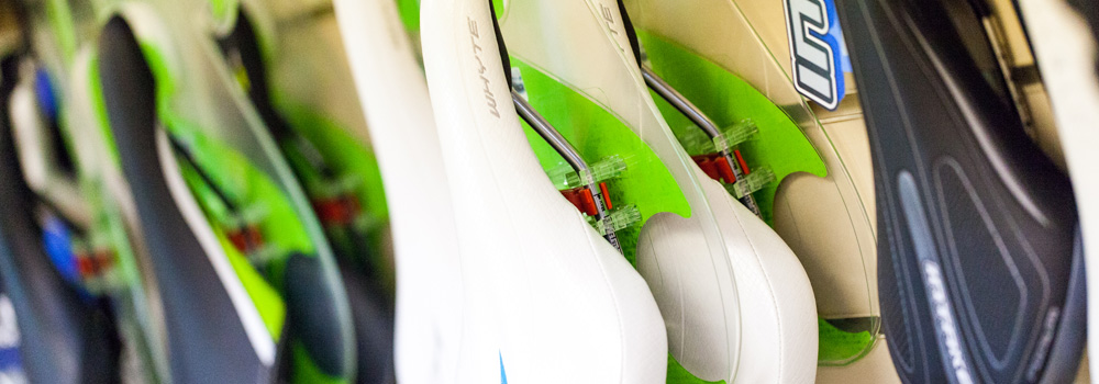 Our saddles range from larger comfortable styles to lightweight racing types