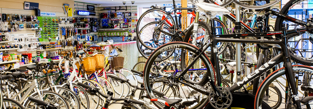 Huge selection of bikes
